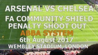 Arsenal v Chelsea Community Shield ABBA Penalty Shootout 06-08-2017 Wembley Stadium London