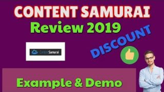 Content Samurai Review 2019 | Discount | Example & Demo | Black Friday | Now Vidnami Review